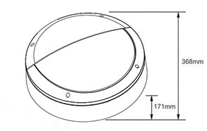 Knight Round Dimensions